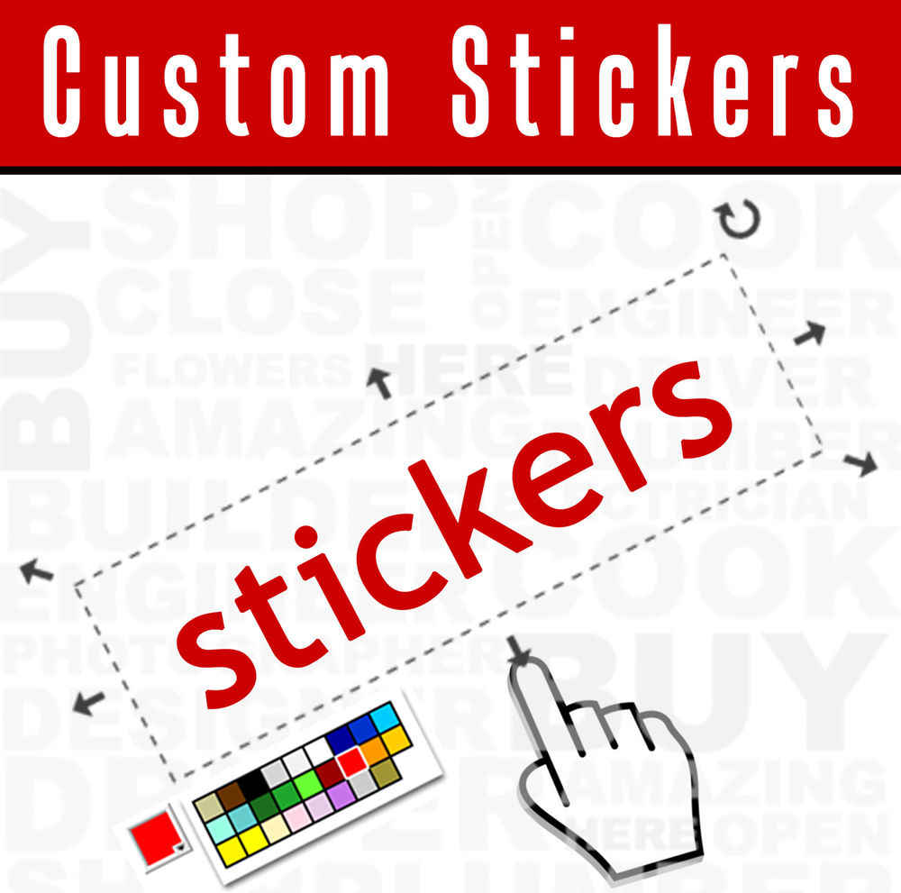 Detail feedback questions about custom sticker decal die cut no background painted pick size color vector png jpeg your text on aliexpress com alibaba