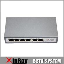 4CH POE Commutateur 10/100 M 150 m Distance 85 W DC et 2 Lan Port pour IP Caméra CCTV Système NVR POE Alimentation Adaptateur POE4CH