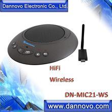 DANNOVO Wireless Video Conference Microphone, USB Speakerphone, HiFI, Eco Cancellation,for Windows,MAC,Skype,Lync