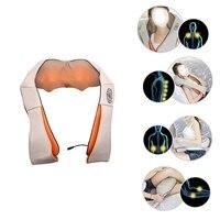 U Shape Electrical Back Neck Shoulder Body Massager Infrared Heated Kneading Car Home Massagem