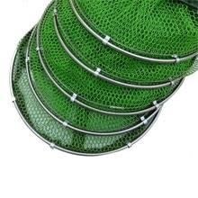Folding Fishing Net Tackle Aluminum Ring Edge Quick-drying Shrimp Net Fish Glue Shrimp Cage Fishing Net Tackle Acceriess 1.5m 2m
