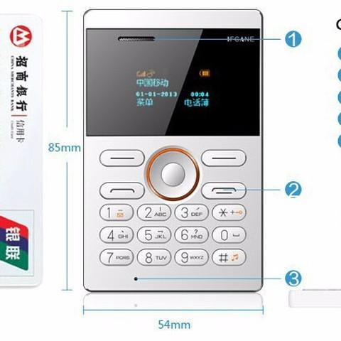 Mosthink IFcane E1 AIEK X8 GSM 2G Cellphone Mini Mobile Phone ultra thin credit card Button Single SIM FM Radio Mp3 mini phones Islamabad