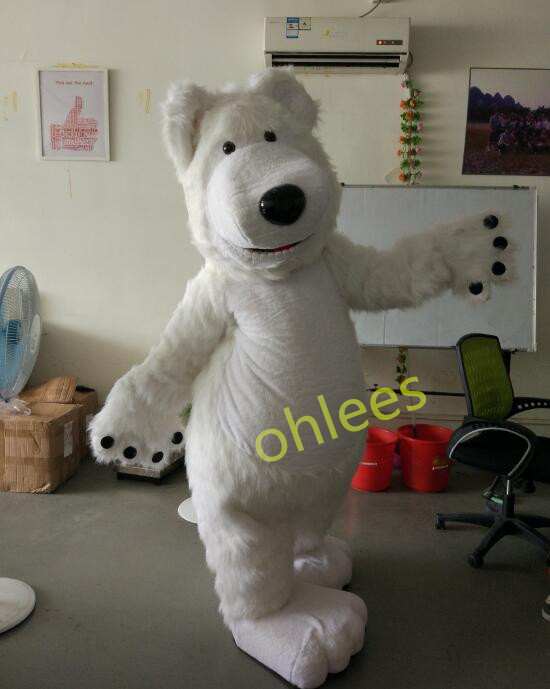 ohlees New Special bear Mascot Costume Character halloween head costumes party school suit head outfit