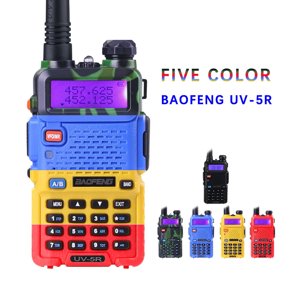 BaoFeng UV-5R Talkie-walkie Professionnel Radio Baofeng UV5R Émetteur-Récepteur 128CH 5 w VHF et UHF Portatif UV 5R Pour chasse Radio