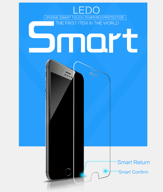 LEDO 2015 magic touch smart screen protector for smart mobile phones tempered glass with two touch point