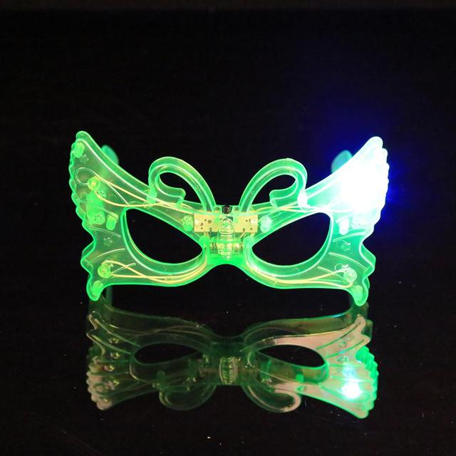Лидер продаж мигает партии свет Защита от солнца Очки на Рождество День  рождения Halloween Party украшения b4b8fc46b49