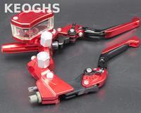Keoghs Универсальный 7/8 тормозной цилиндр и тормозной рычаг сцепления 12,7 мм складной выдвижной для Honda Yamaha Kawasaki Suzuki