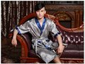 Hombres Nueva Llegada Del Traje de Estilo Chino Hecho A Mano Pintado Kaftan Robe Gown Kimono Albornoz Pijamas Batas