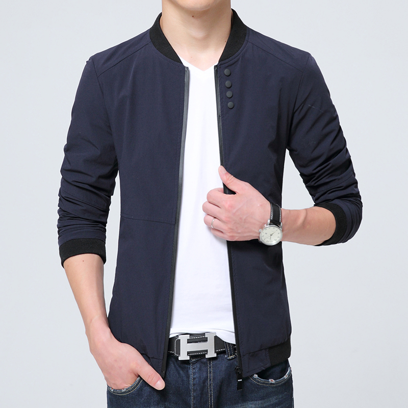 Mens jackets Coats 2017 Spring Summer New Men Fashion Zipper ...