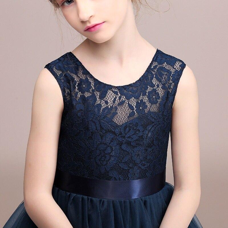 Chaffare Girls Dress Mesh Lace Wedding Party Sukienki dziecięce - Ubrania dziecięce - Zdjęcie 4