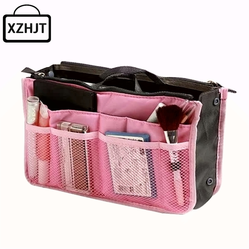Fashion Make Up Organizer Bag Women Men Travel Functional Cosmetic Bags Storage Makeup Wash Kit Necessaire Handbag Cases high quality women classic makeup bag phone cases zipper organizer storage bags day clutches