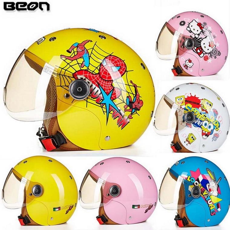ФОТО ECE Cartoon  spider man children motocross half face motorcycle helmet ,MOTO electric bicycle safety headpiece for  child kids