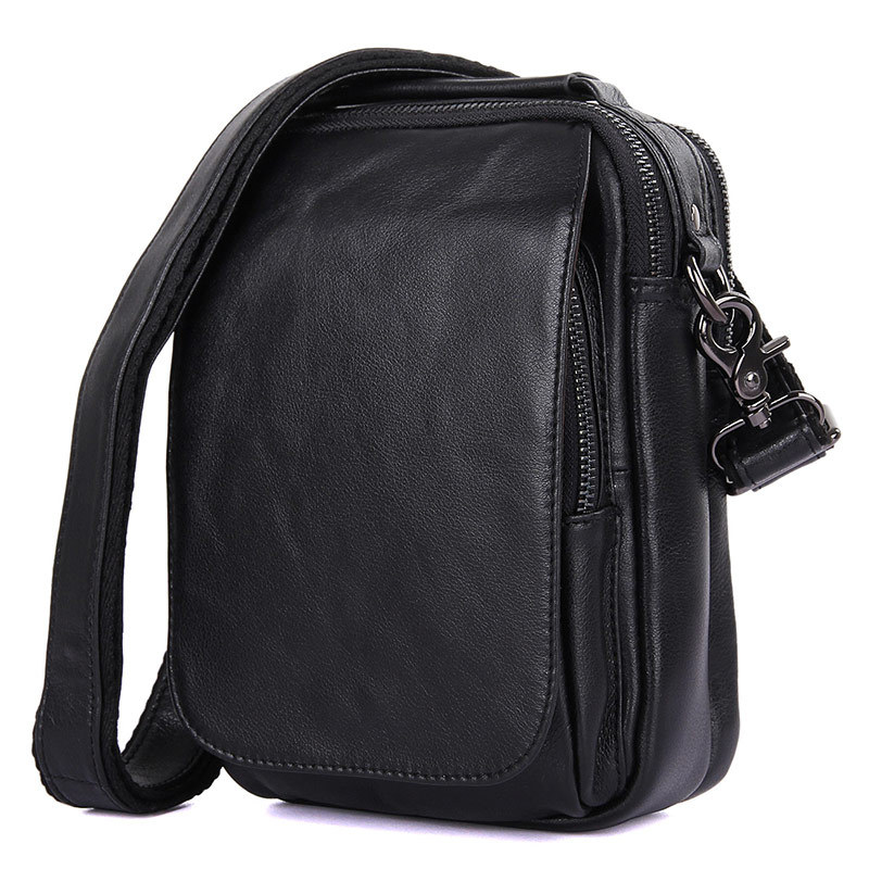 Top Quality Men Cowhide Genuine Leather Messenger Shoulder Bag Business Vintage Crossbody Bag Casual Black Small Tote Bags 1012 ifo унитаз подвесной ifo grandy rp213100100