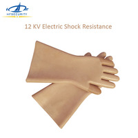Electrician Insulating Gloves 12KV Electric Shock Resistance Thicken Industrial Anti Cold Heat Skid Rubber Safety Gloves