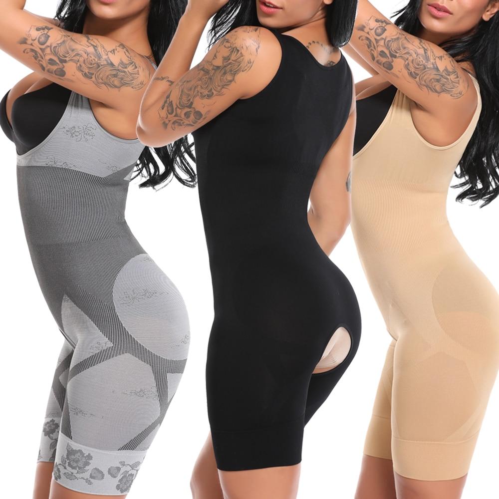 Bodysuit Women High Waist Full Body Shaper Fajas Waist Trainer Slimming Shapewear Seamless Tummy Shaper Underwear