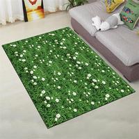 3D Świeże Zielone Trawy Dywany Dywany Dla Pokoju Gościnnego Romantyczny dla Sypialnia Sofa Stolik Dywan Dywan Tatami Mata Podłogowa Badania