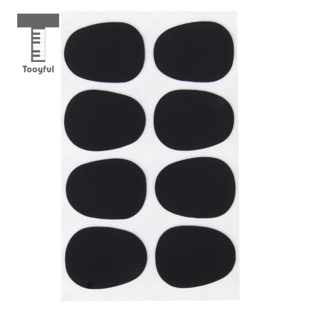 Tooyful High Quality 8Pcs Silicone Patches Cushions Durable 0.8mm Rubber Soprano Accessories Black Saxophone Sax Mouthpiece Pad