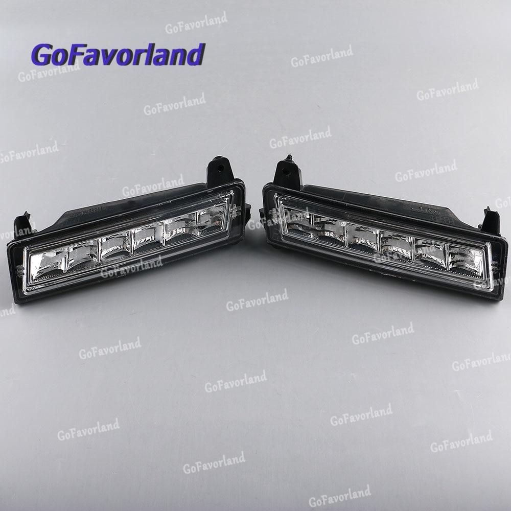 Paire Avant Gauche Droite LED Diurnes DRL 1649060251 Pour Mercedes W164 X164 X204 ML350 ML450 GL450 2008-2013 GLK220