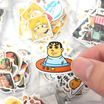 1 Bag Cute Cartoon Korean Style Decorative Stickers Adhesive Stickers Scrapbooking DIY Decoration Diary Stickers 1