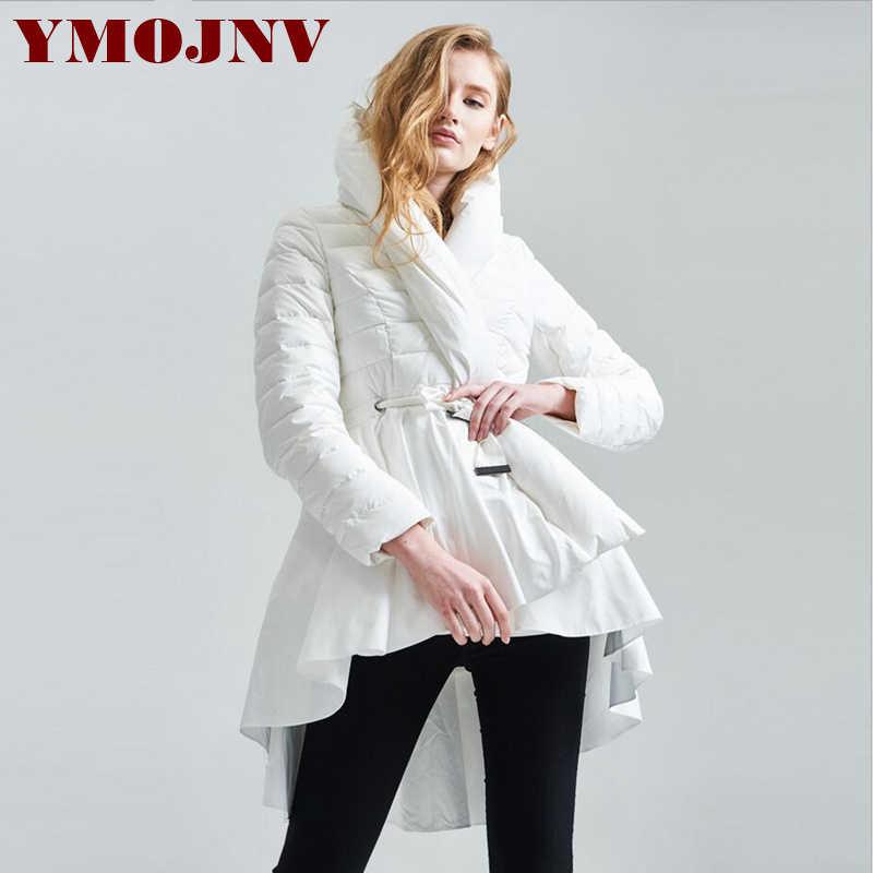 0da583de2e72 ... YMOJNV 2018 Winter Womens Down Jackets Hooded 90% White Duck Down High  Quality Warm Black ...