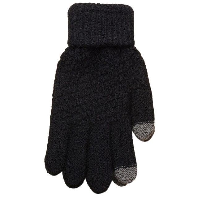 Knitting Faux Wool Gloves...