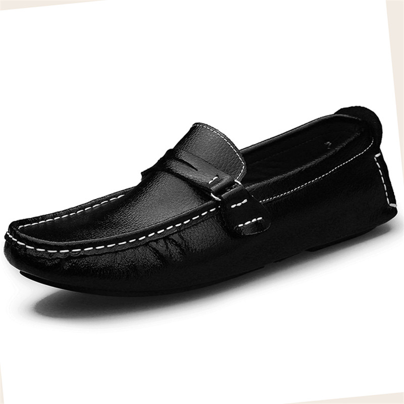 Big Size 13 Leather Casual Men Shoes Soft Fashion Moccasins Slip-On Loafers Men's Shoe Driving sapato masculino Large size 48 pl us size 38 47 handmade genuine leather mens shoes casual men loafers fashion breathable driving shoes slip on moccasins