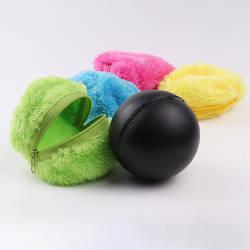 1 комплект автоматического Вакуумный подметания пола Робот микрофиберная тряпка мяч очистки с 4 шт красочные грязезащитный чехол