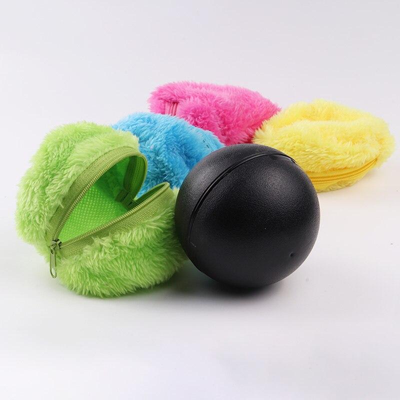1 Set Automatische Roll Vakuum Stock Kehr Roboter Reiniger Mikrofaser Ball Reinigung Mit 4Pcs Bunte Reinigung Abdeckungen Set HOT