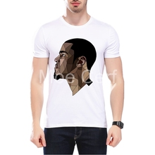 MOE CERF Fashion Print Men's T shirt Geometry J Cole Portraits Design Tops Summer High Quality Hipster Printed Tee L9-J-125