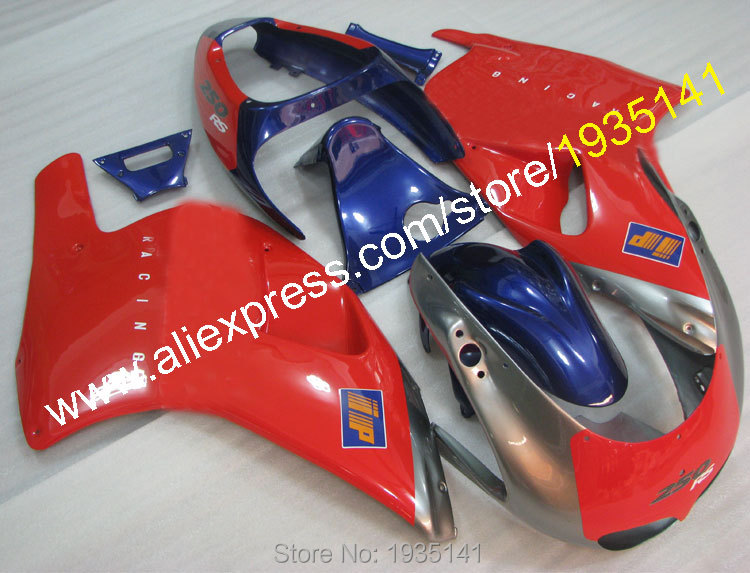 Горячие продаж,синий красный серебряный мотоцикл кузова обтекатели для Aprilia 250 рупий 1995 1996 1997 РС 250 95 96 97 послепродажного комплект