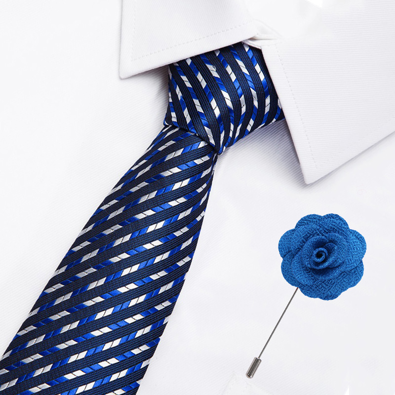 High Quality Flower Pattern Necktie Luxury Wedding Accessories Tie Pin Set New 42 Styles Paisley Stripes Business Ties for Men in Men 39 s Ties amp Handkerchiefs from Apparel Accessories