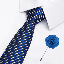 High Quality Flower Pattern Necktie Luxury Wedding Accessories Tie Pin Set New 42 Styles Paisley Stripes Business Ties for Men fashionable flower leaf ethnic pattern colored tie for men