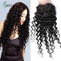 8A rápido cambojano onda profunda fechamento cabelo 4 x 4 1 pc rendas fechamento profunda parte cambojano virgem cabelo