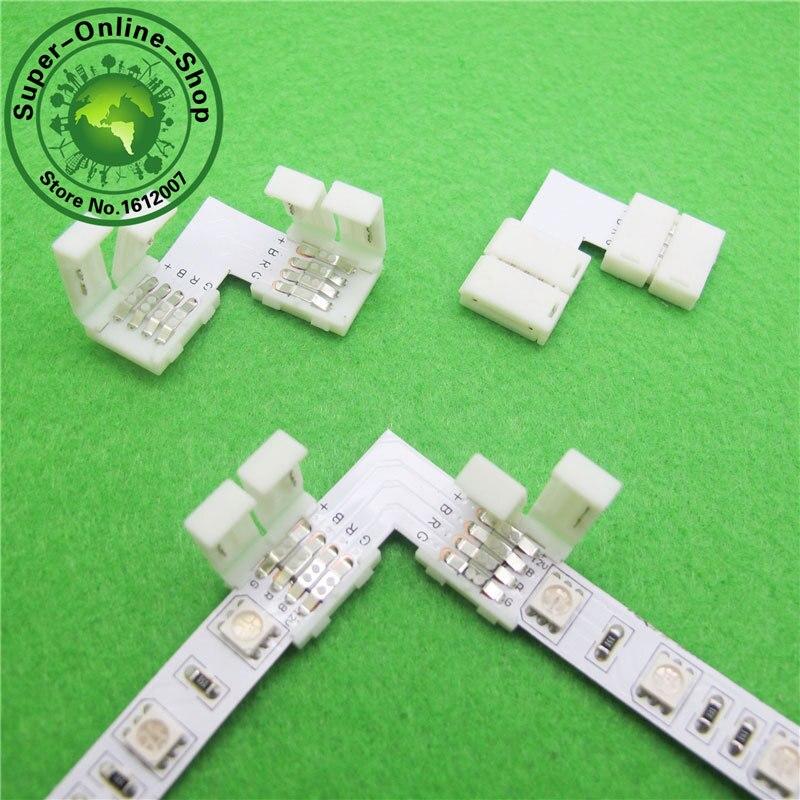 20pcs 4 Pin Led Connector L Shape Quick Splitter 4 Plug