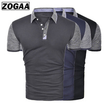 ZOGAA Brand Clothing New Men Polo Shirt Men Business & Casual Solid Male Polo Shirt Short Sleeve Breathable Polo Shirt Man