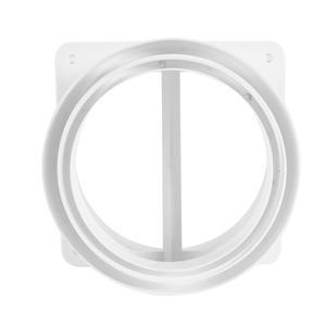 Image 4 - Hon ve Guan 150mm için 180mm çift kanatlı taslak engelleyici Backdraft damperi için Inline aspiratör fanı geri taslak deklanşör ABS hava firar