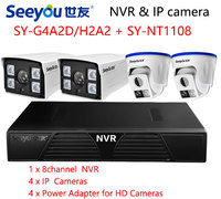 Seeyou 1080P Security Camera Kit NVR Surveillance IP Camera SY G4A2D 3GA2D Security CCTV System For