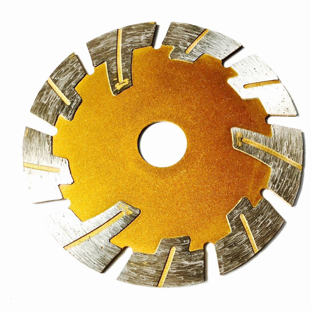 Free Shipping Top Quality Dry Cutting 114*1.8*20*12mm Protection Teeth Saw Blades For All Stones As Marble/granite/tile/cutting