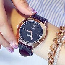 GUOU Fashion Auto Date Wrist watch Leather Strap Luxury Women's Watches Ladies Watch Clock saat relogio feminino bayan kol saati