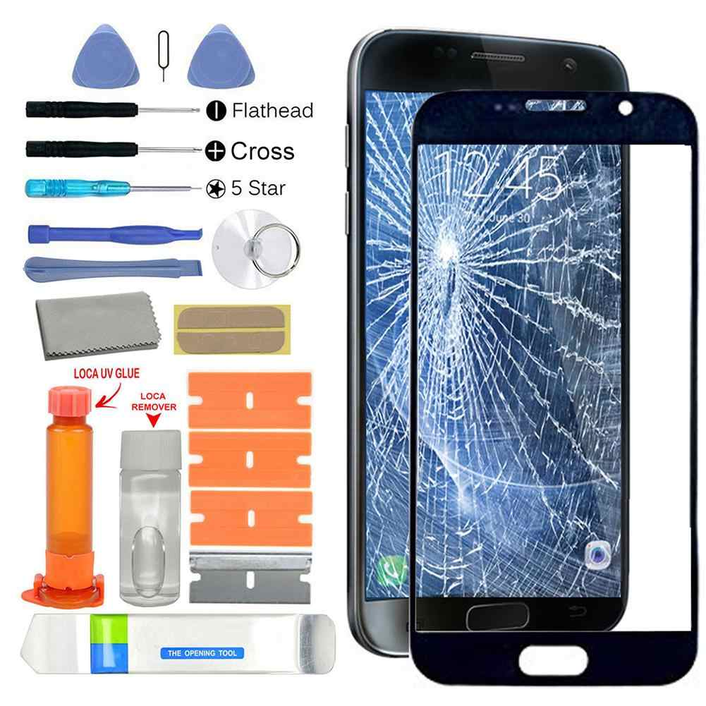 UV Glue Front Glass Screen Replacement Repair Kit for Samsung Galaxy S7 G930 New