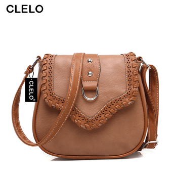 CLELO women messenger bags Soft PU Fashion Small Hollow Out Shoulder Bag For Wom