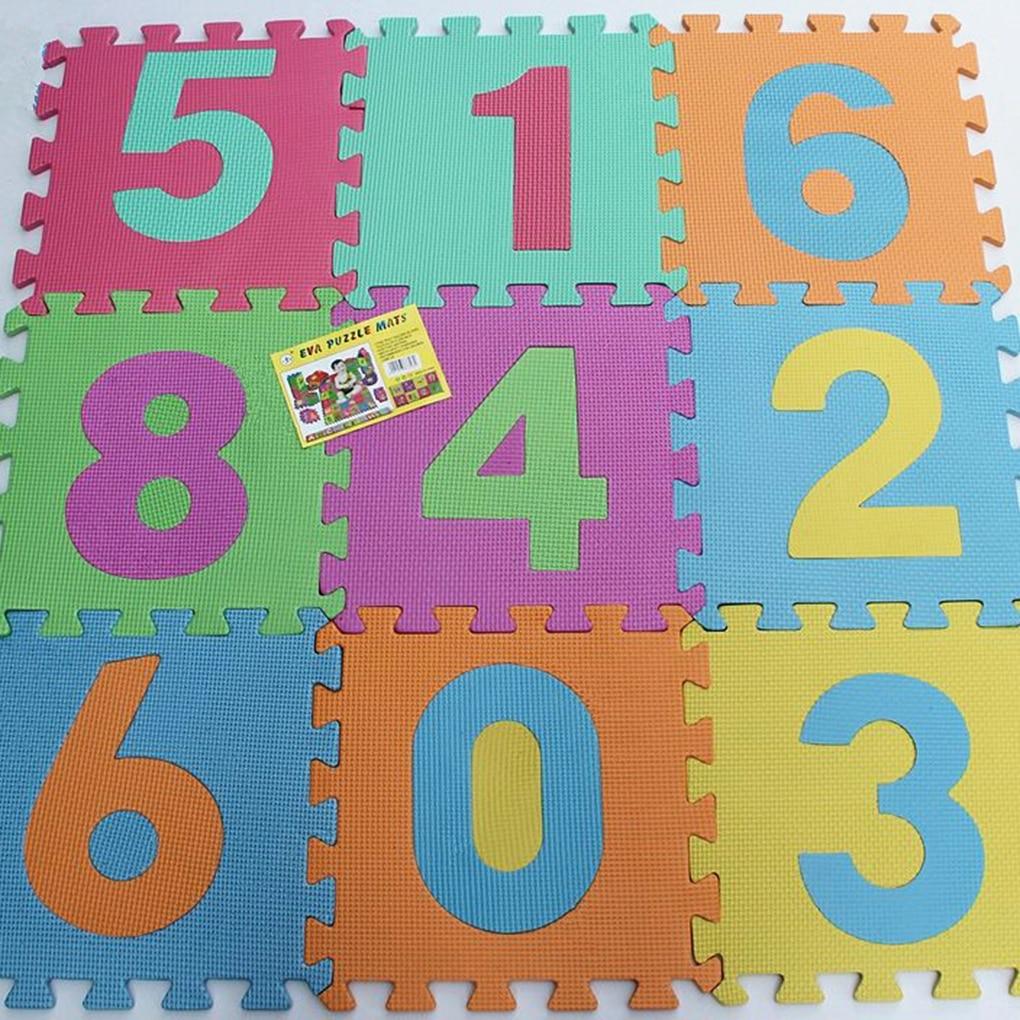 Brand New 10pcs/Set Numbers Cartoon Animals EVA Children Foam Pad Baby Crawling Mat Puzzle Floor Protector Random Color