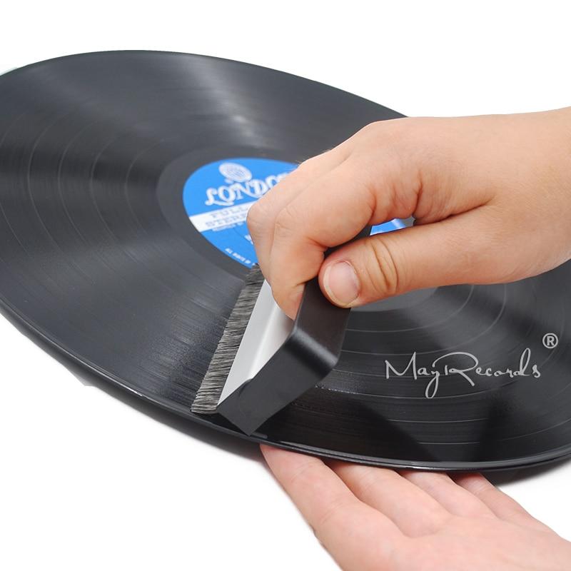 Professional Vinyl Record Brush Portable Anti-Static Carbon Fiber Record Brush