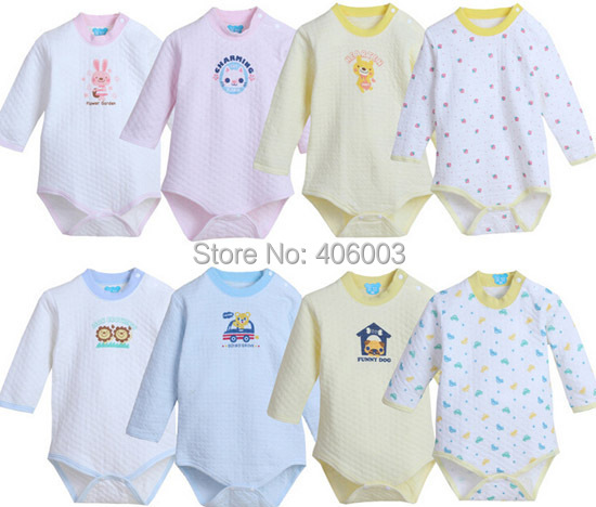 Kids Baby Long Sleeve Romper Baby Toddle Winter Cotton Clothes ...