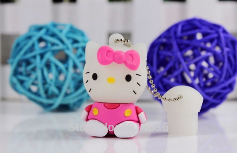 As a gift Cartoon pink/purple usb flash drive small kitty cat model USB flash drive pen drive USB memory card N13 BB#21
