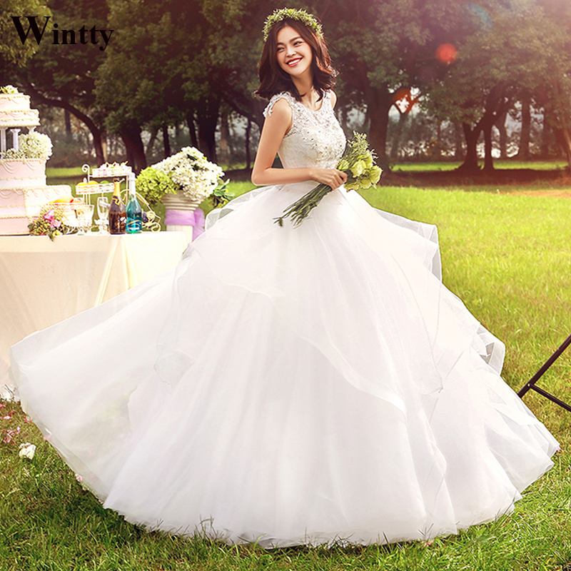 Wedding Gown Fabric Guide: Wintty New Wedding Dresses Vintage Tulle 2017 Lace Fabric
