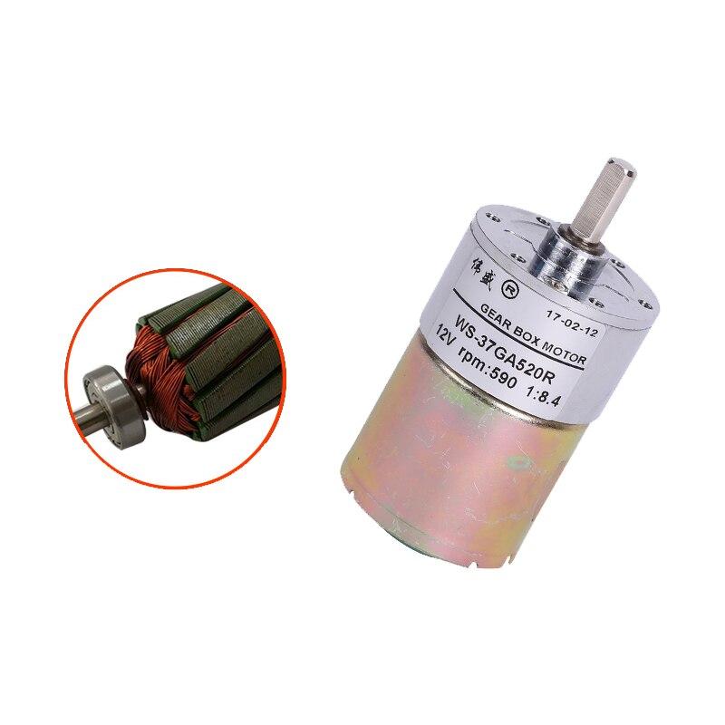 37GA520 DC Geared Motor / 12V24V Miniature Speed Control Small Slow High Torque CW/CCW