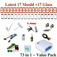 2017 73 in 1 Suite package For LCD separator UV Lamp mobile open tools Screen Mould Glass Glue Gun UV Loca Glue