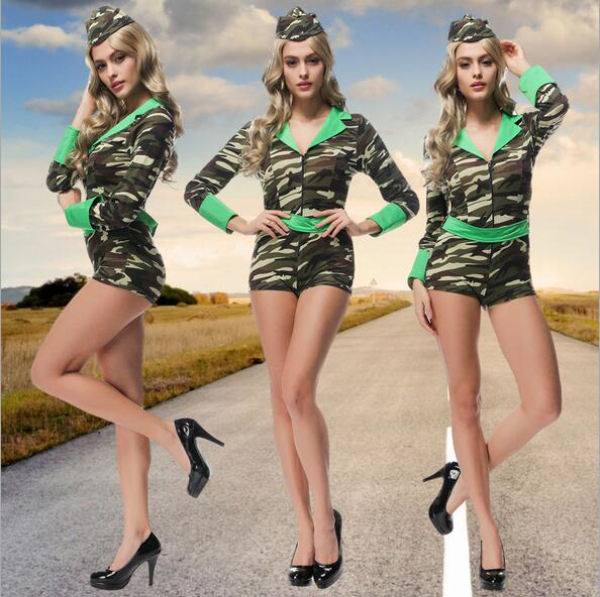aliexpresscom buy new arrive sexy army soldier costumes women halloween costumes camouflage jumpsuit military officer cosplay women party dress from - Soldier Girl Halloween Costume