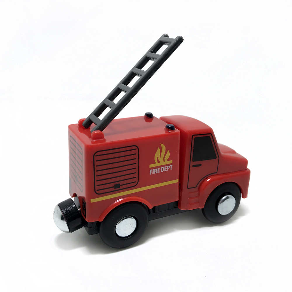 Fire truck for Tmas car track scene car compatible with Tmas BIRO wooden track children's educational toys